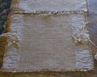 burlap shabby chic placemats