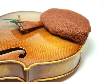 Boxwood-Color Felted Wool Chin Rest Cozy for Violin or Viola