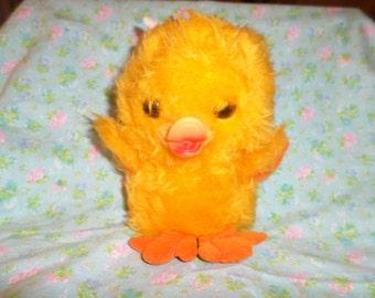 Vintage Duck plush Rubber beak Russ Quackles 1978 nutshells