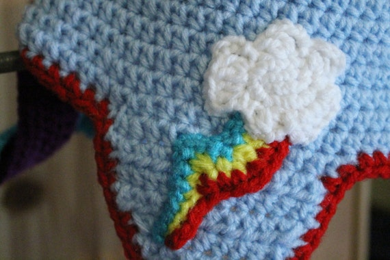 My Little Pony Costume Rainbow Dash Crochet Hat Pattern