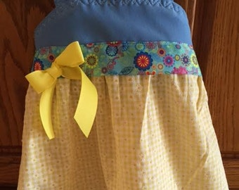 Cute yellow and blue sundress, size 4.