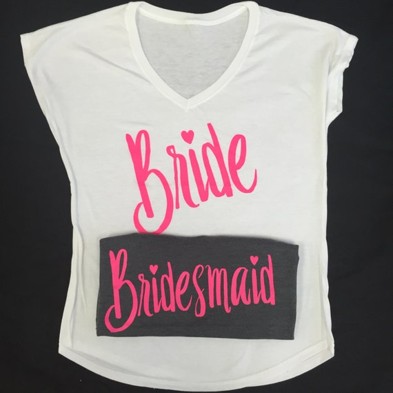 Bride girls shirt features