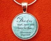 YOGANANDA QUOTE Pendant Paramahansa Yogananda Necklace Door of My Heart Cosmic Chants SRF self-realization Kriya Yoga Jewelry Meditation