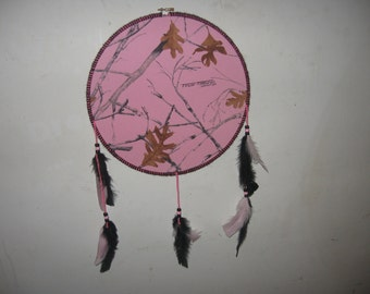 pink camo dream catcher