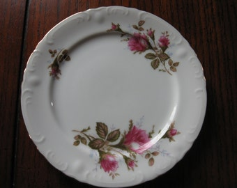 3 Wawel Moss Rose Bread and Butter Plates - Item #1057