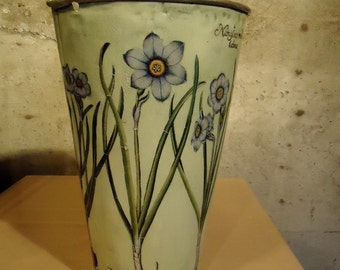 Hand Decorated Tinware Bucket