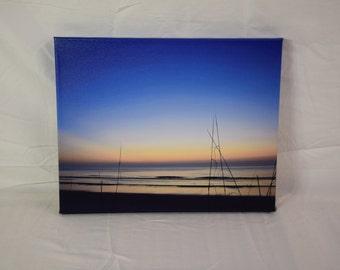 Hazy Blue Dawn Photography Print on canvas