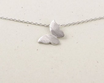 Silver Butterfly Necklace with butterfly