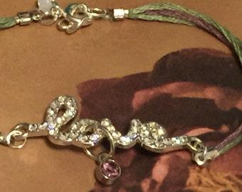 Love bracelet threaded bracelet