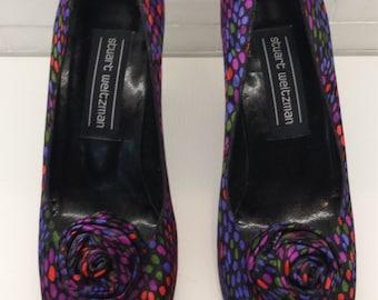 Vintage STUART WEITZMAN Polka Dot Pumps / Shoes