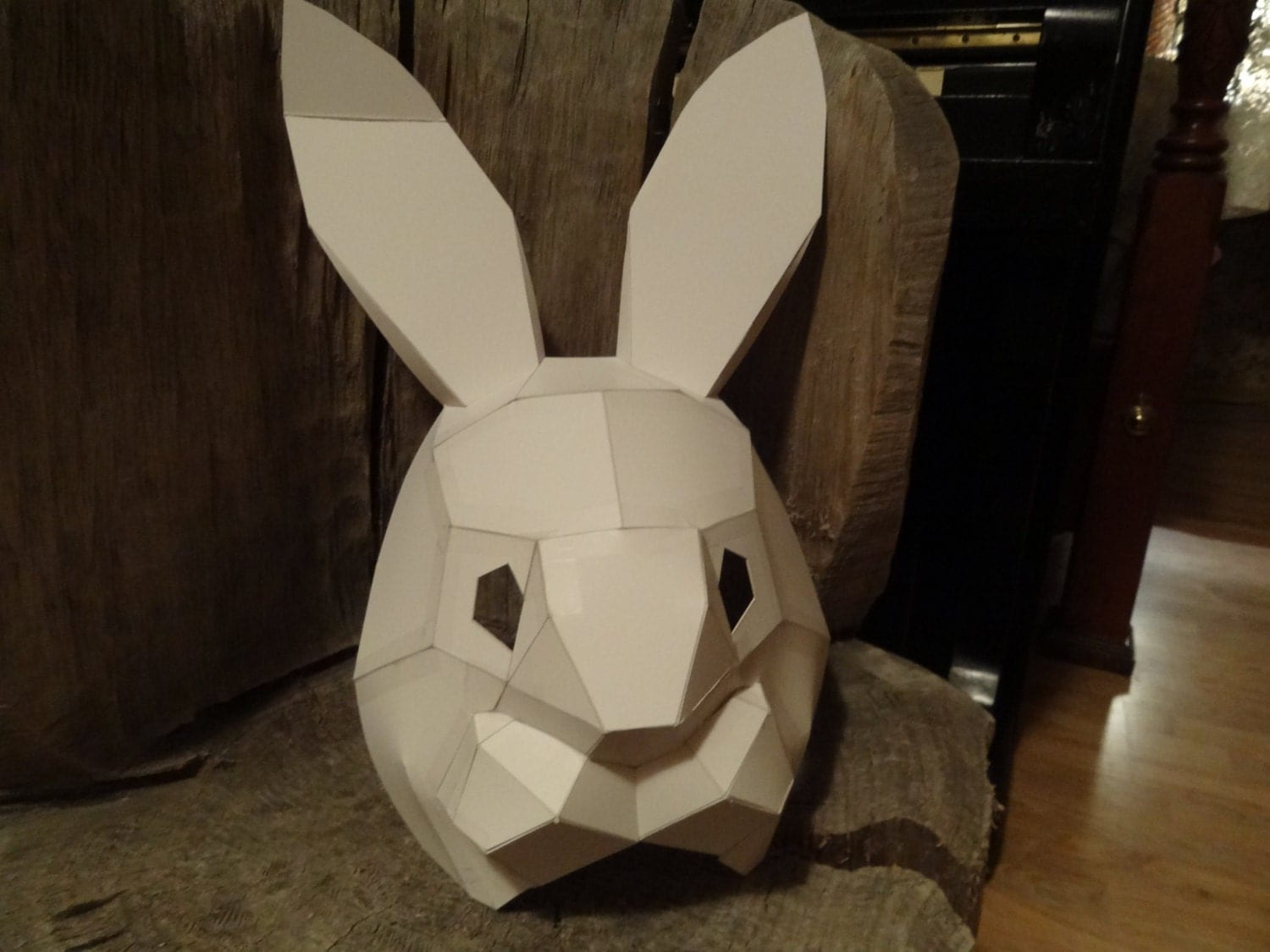 DIY Halloween mask, Make your own Rabbit mask from cardboard ...