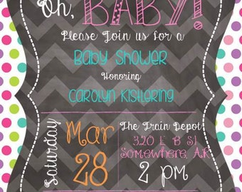 Bright Baby Shower Invite