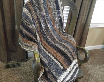 Handmade Crocheted Throw Blanket