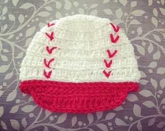 Infant Crochet Baseball Cap -any size or colors
