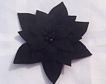 Handcrafted beaded felt Flower Pin Brooch