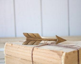 Pewter Arrow Drawer Pull // Metal Handle