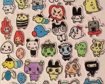 Tamagotchi Sticker Set