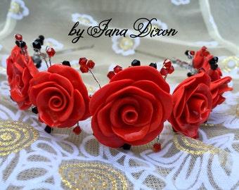 Wedding, Prom, Fashion Polymer Clay Headband