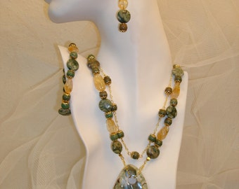 Rainforest Jasper Jewelry Set