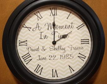Wedding Announcement Clock