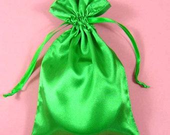 "30 Moss Green Satin Bags with Drawstrings, 3""x4"", 4""x6"", 5""x8"", Moss Green Gift Bags, Moss Green Favor Pouches, Jewelry Bags,Green Favor Bag"