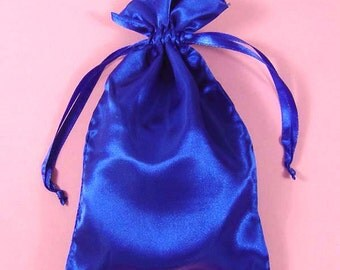 "30 Royal Blue Satin Bags with Drawstrings, 3""x4"", 4""x6"", 5""x8"", Jewelry Pouches, Royal Blue Jewelry Bags, Gift Bags, Merchandise Pouches"
