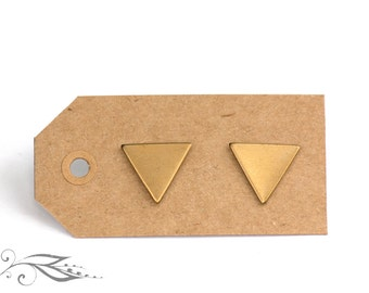 Triangles - hand-soldered studs 13 mm made of brass and stainless steel