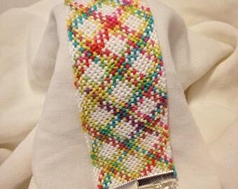 Tie-Dye Plaid Friendship Bracelet
