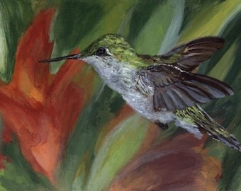 GICLEE PRINT: Hummingbird in Flight
