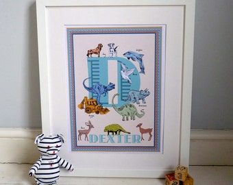 Personalised letter D print