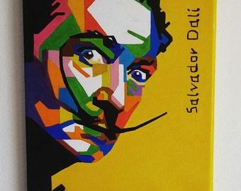 Salvador Dalì - 20x30 cm  7,88x11,82 inches