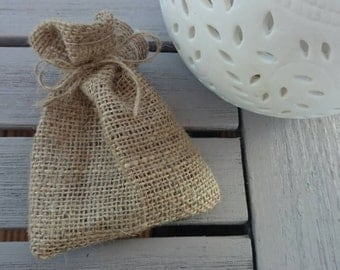 20 x small hessian bags for parties wedding favours