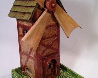 Bavarian Windmill bird feeder