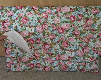 Floral laptop/device case with Velcro fastening