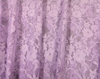 Lace Fabric, Apparel Fabric, Clothing Fabric, Lavender Lace, Clothes Fabric, Lace By The Yard, Dress/Blouse/Sash Fabric, Home Decor Fabric