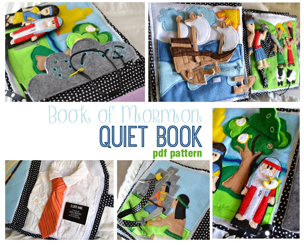 Felt Book Cover Pattern ~ Book of mormon quiet pdf pattern
