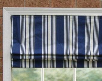Custom Cordless Roman Shade - Stripe