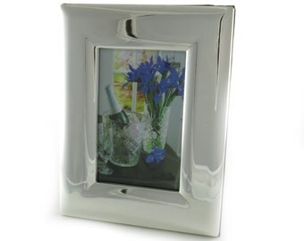 Silver Plated Picture Frame 5 x 7 inch Free Engraving for the Perfect Gift