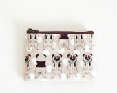 Mini zipper pouch  -pug (natural)