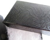 100 small black swirl cotton filled boxes