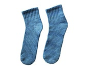 Indigo Socks: ankle, hand dyed
