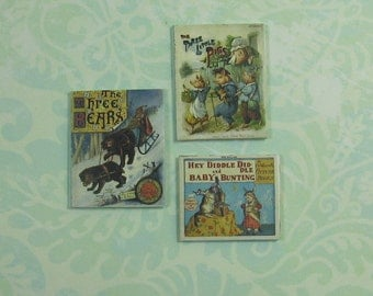 Dollhouse Miniature Set of Three Childrens Books