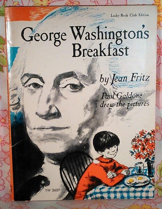 George Washington's Breakfast - Jean Fritz - Paul Galdone - 1969 - Vintage Kids Book