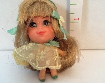 1966 Mattel Liddle Kiddle Lou Locket Doll Toy unplayed with condition !