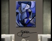 Original Abstract painting Modern Home Decor LARGE Canvas Wall Art by Fidostudio