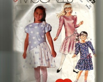 McCall's Girls' Dress Pattern 2882