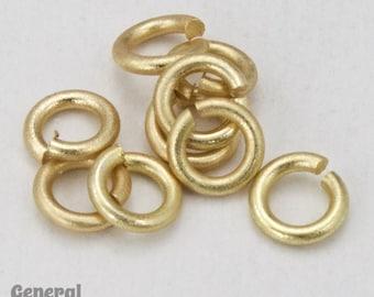 4mm Matte Gold Jump Rings 18 Gauge #RJA031