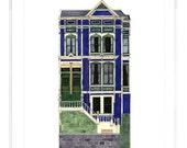 Tall House On 18th Street, San Francisco - Notecard