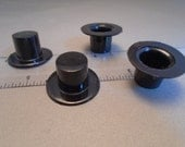 Pair of Miniature black hats for craft projects - 24 mm / 1 inch brims - 2 hats per purchase