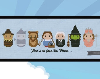 The Wizard of Oz parody - Cross stitch PDF pattern